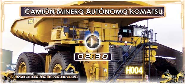 Video de Camiones Mineros Gigantes Komatsu