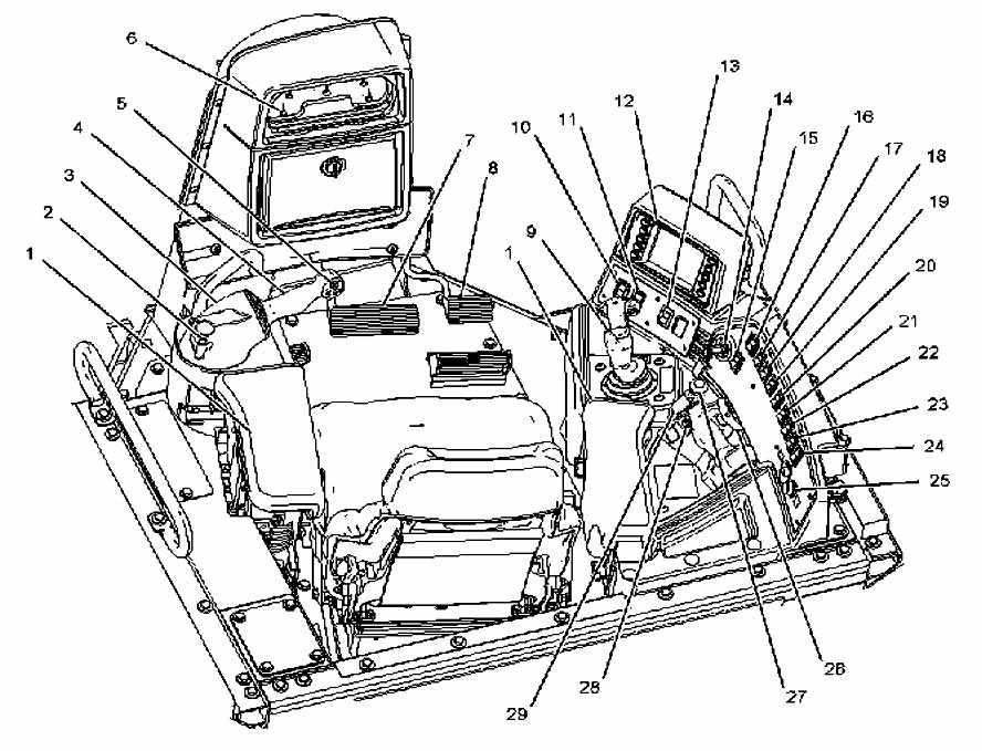 Partes de la Cabina del Bulldozer D8T Caterpillar