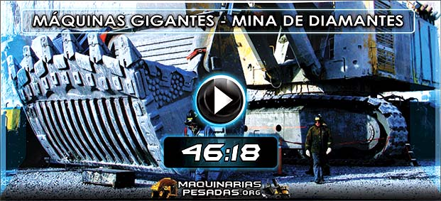 Video de Máquinas Gigantes en Mina de Diamantes
