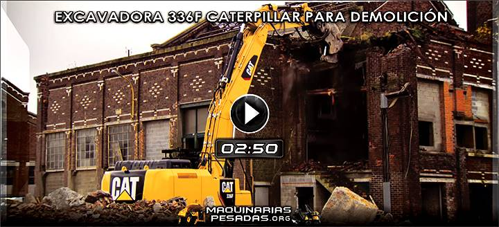 Video de Excavadora Hidráulica 336F Caterpillar para Demolición