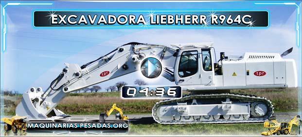 Video de la Excavadora Hidrulica Liebherr R964C con Camiones