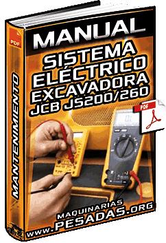 Manual: Sistema Eléctrico de Excavadora JCB JS200-260 - Localización de Fallas y Mantenimiento