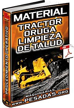 Material de Limpieza de Talud con Tractor de Orugas en Mina - Tareas y Verificación