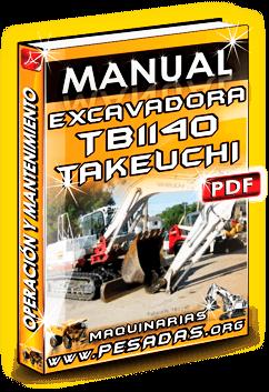 Manual de Operación y Mantenimiento Excavadora TB1140 Takeuchi