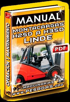 Manual de Operación y Mantenimiento Montacargas H25D H30D H35D Linde