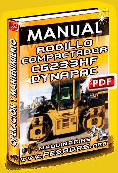 Manual de Operación y Mantenimiento Rodillo Vibratorio CG233HF Dynapac