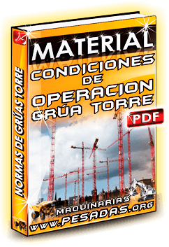 Material Condiciones de Operación de Grúas Torre en Chile