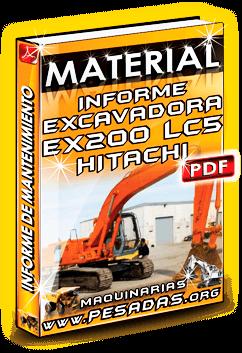 Material Informe de Mantenimiento de Excavadora EX200 LC5 Hitachi