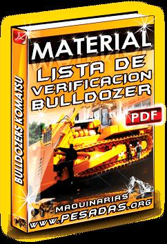 Material Lista de Verificación de Bulldozers Komatsu