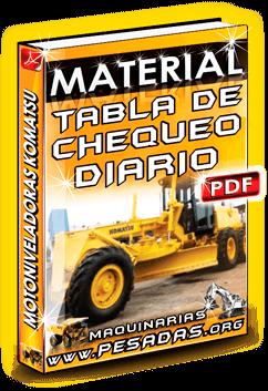 Material Tabla de Chequeo Diario de Motoniveladoras Komatsu
