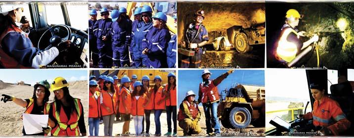 Fotos de Mujeres Operadoras y Mineras
