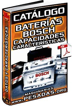 Catálogo de Baterías Bosch - Códigos, Capacidades, Voltajes y Características