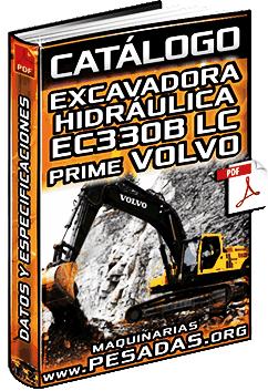 Catálogo de Excavadoras Hidráulicas EC330B y EC330B LC Prime Volvo