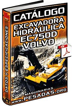 Catálogo de Excavadora Hidráulica EC750D Volvo