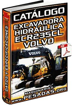 Catálogo de Excavadora Hidráulica ECR235CL Volvo