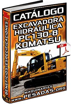 Catálogo de la Excavadora Hidráulica PC130-8 Komatsu