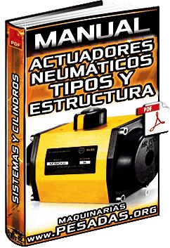 Manual de Actuadores Neumáticos - Tipos, Lineales, Giro y Estructura de Cilindros