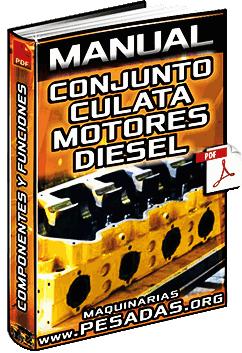 Manual: Conjunto de Culata de Motores Diesel - Componentes y Funciones