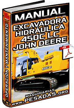 Manual de Excavadora Hidráulica 450C LC John Deere - Operación y Mantenimiento