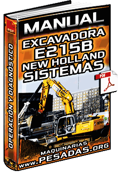 Manual de Excavadora Hidráulica E215B New Holland - Sistemas y Componentes