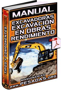 Manual de Excavadoras y Excavación en Obras – Tipos, Partes y Rendimiento