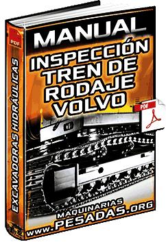 Manual de Tren de Rodaje de Excavadoras Volvo - Inspección y Medición de Desgaste