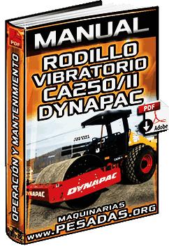 Manual de Rodillo Compactador CA250 II Dynapac - Operación y Mantenimiento