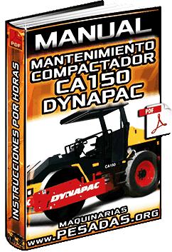 Manual de Mantenimiento de Compactador Vibratorio CA150 Dynapac - Instrucciones
