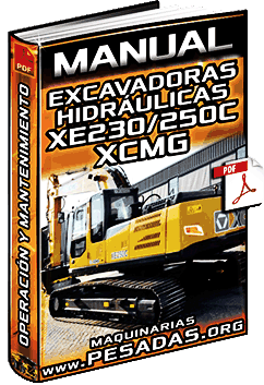 Manual de Excavadora Hidráulica XE230 y XE250C XCMG - Operación y Mantenimiento