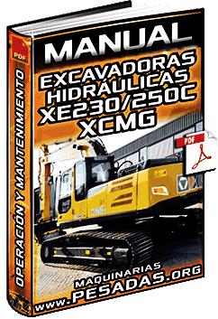 Manual de Excavadora Hidráulica XE230 y XE250C XCMG – Operación y Mantenimiento