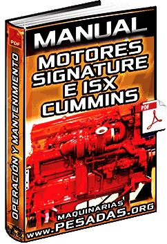 Manual de Motores Signature e ISX Cummins – Operación y Mantenimiento