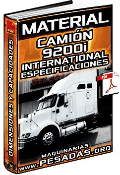 Material de Camión 9200i International - Dimensiones y Especificaciones