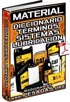 Diccionario de Sistemas de Lubricación y Lubricantes – Términos Comunes