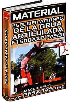 Material: Especificaciones de la Grúa Articulada F1500AXP Fassi – Capacidades