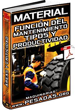 Material: Función del Mantenimiento - Tipos, Áreas, Criticidad y Productividad