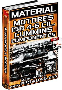 Motores Cummins Serie ISB de 4 a 6 Cilindros – Rangos, Diagramas y Partes