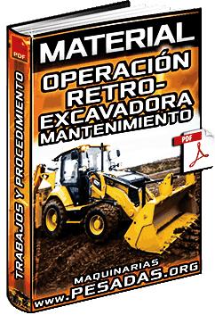 Material: Operación de Retroexcavadoras, Trabajos e Intervalos de Mantenimiento