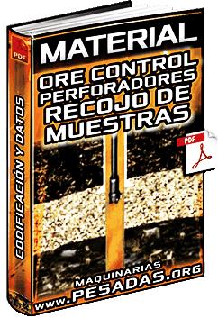 Material: Ore Control de Perforadores - Recojo de Muestras, Codificación y Datos