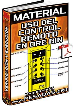 Material: Uso del Control Remoto en el Ore Bin – Verificación y Ejecución en Mina