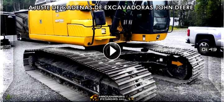 Vídeo: Ajuste de Cadenas de Excavadoras John Deere - Inspección y Procedimiento