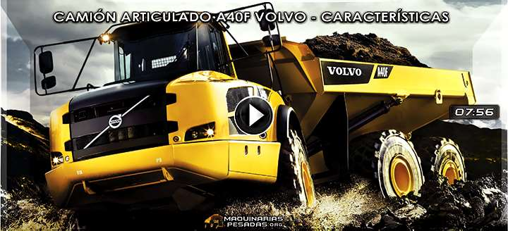 Vídeo del Camión Articulado A40F Volvo - Características y Beneficios