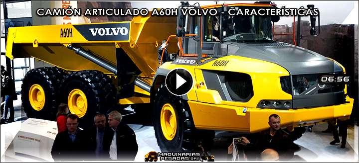 Vídeo del Camión Articulado A60H Volvo de 55 Tn - Características y Beneficios