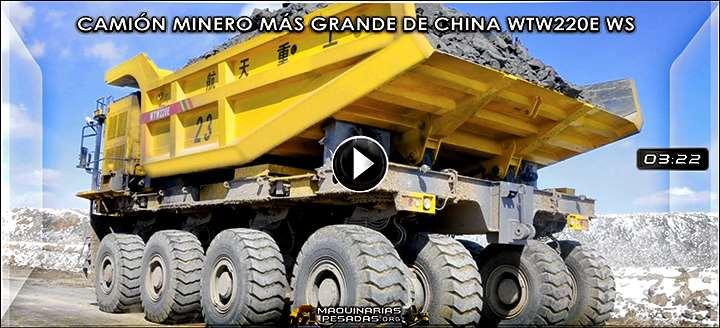 Vídeo del Camión Minero más Grande de China WTW220E WS de 220 Tn