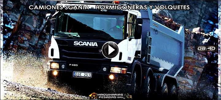 Vídeo de Camiones Scania – Hormigoneras y Volquetes – Características y Beneficios
