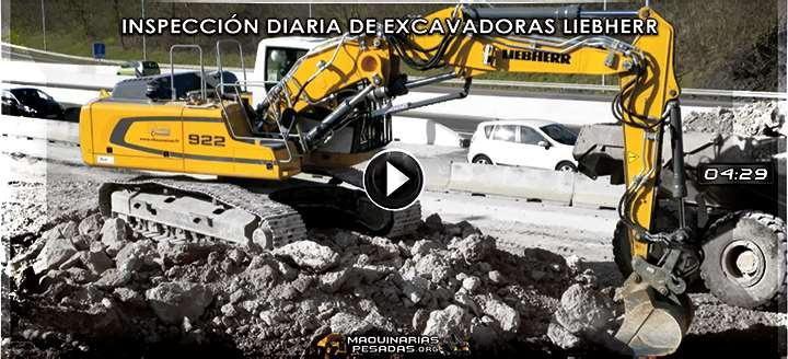 Vídeo de Cómo hacer la Inspección Diaria de Excavadoras R920, R922 y 924 Liebherr