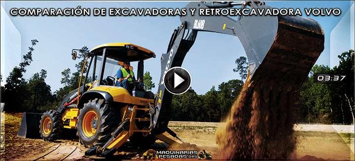 Vídeo: Comparación de Excavadora EW60C, ECR88 Plus y Retroexcavadora BL60B Volvo