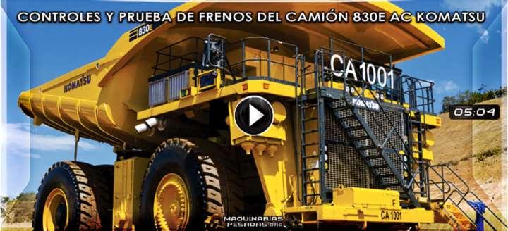 Vídeo de Controles de Arranque y Prueba de Frenos del Camión 830E AC Komatsu