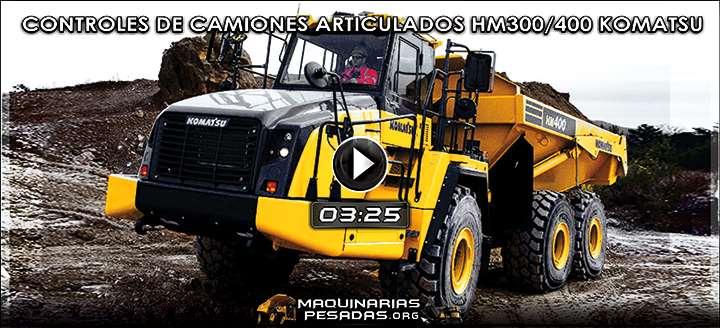 Vídeo de Controles de la Cabina de los Camiones Articulados HM300/400 Komatsu