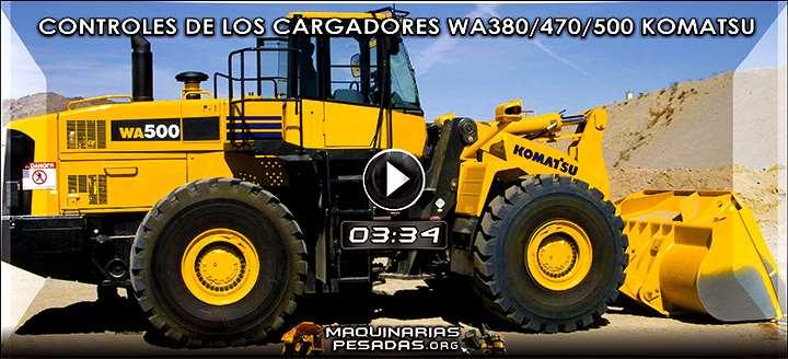 Vídeo de Controles de la Cabina de los Cargadores WA380, WA470 y WA500 Komatsu