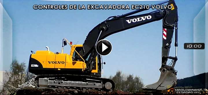 Vídeo de Controles de Operación de la Excavadora Hidráulica EC210 Volvo